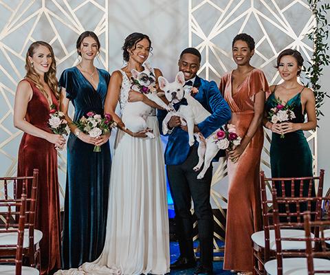 bridesmaids-in-velvet-gowns-and-groom-in-velvet-tuxedo2