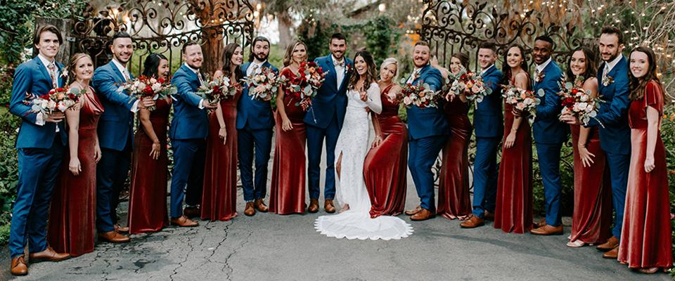 desert-orange-bridesmaids-gowns