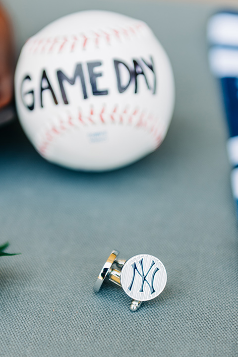 baseball and cufflinks