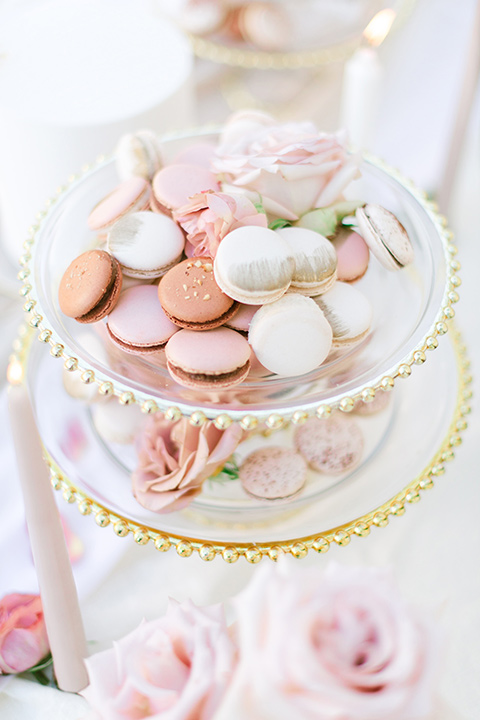 pink and white macaroons
