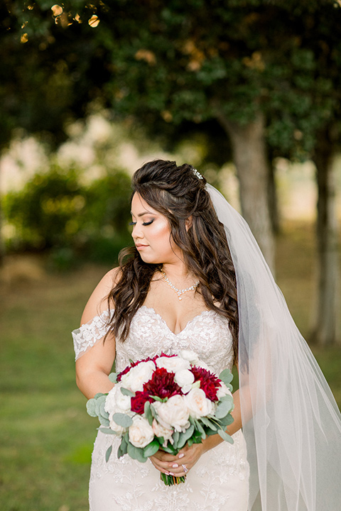 bride in a Spanish style lace gown
