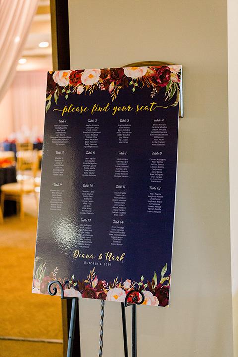 wedding reception guest table card