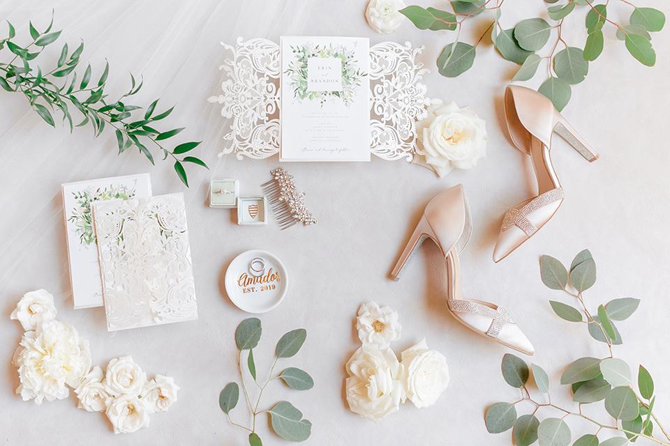 white floral invitations