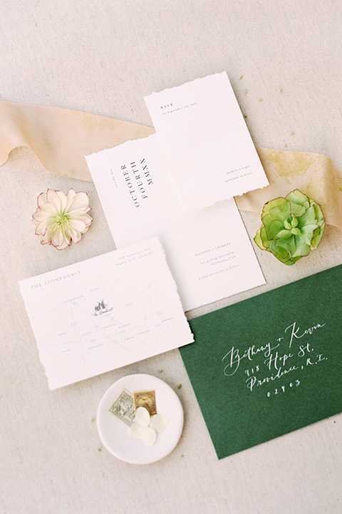 cream and green with gold floral decor