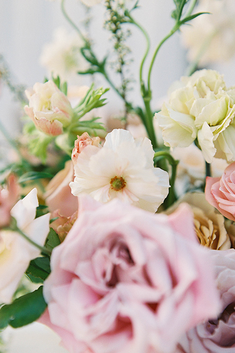 pink and soft yellow florals