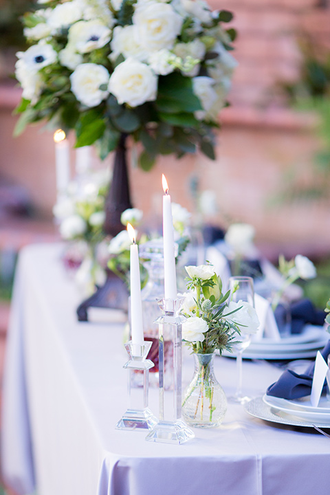 white table linens and white flatware