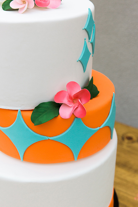tropical style cake