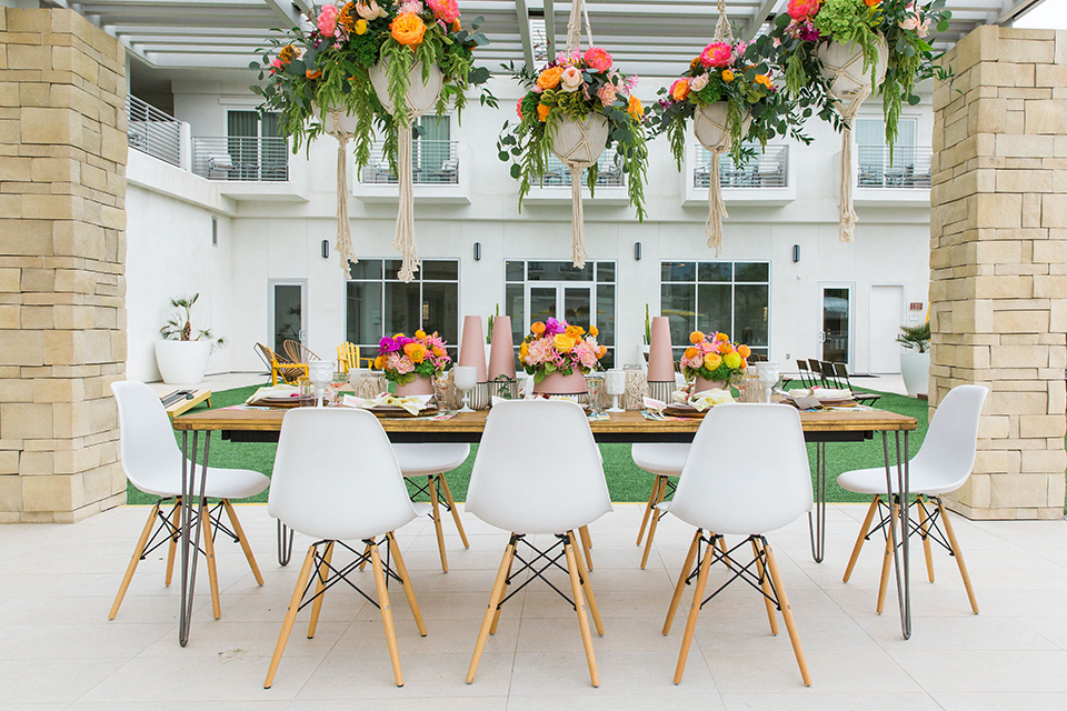 table set up and decor