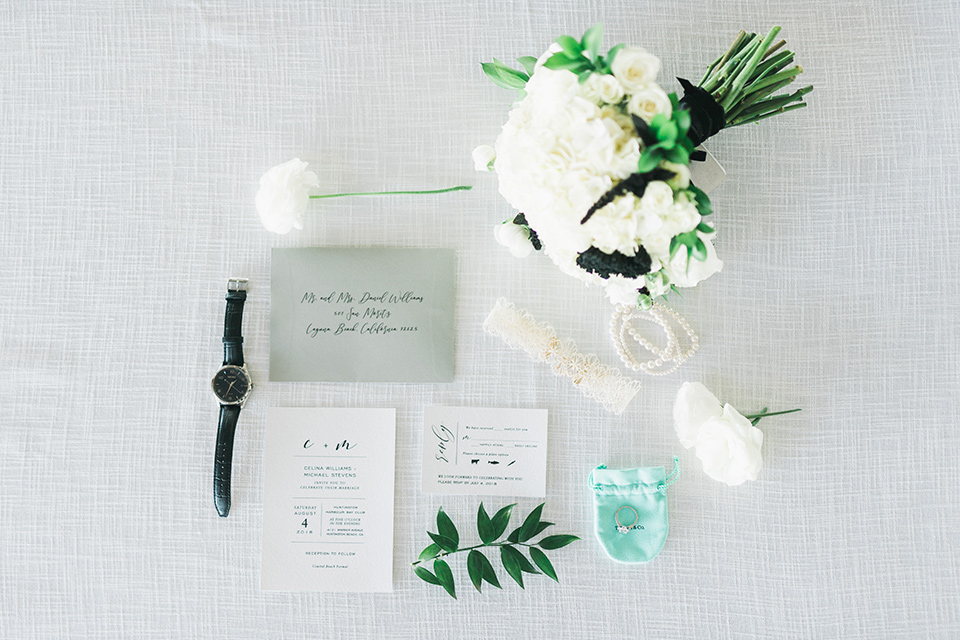 white and black invitations