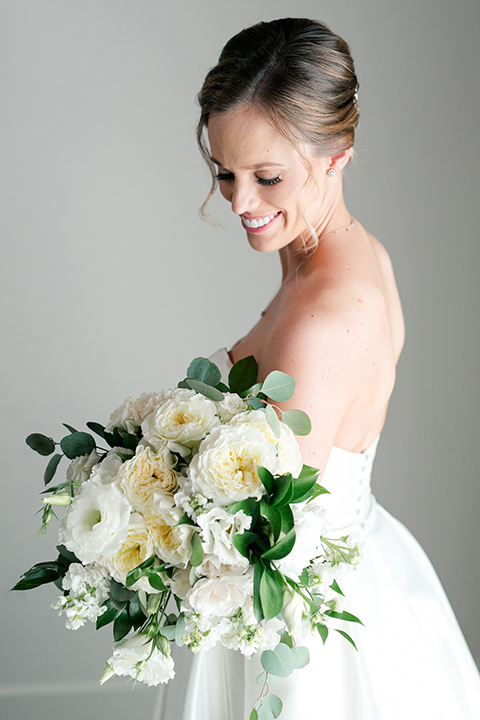 bride in a ballgown with a sweetheart neckline