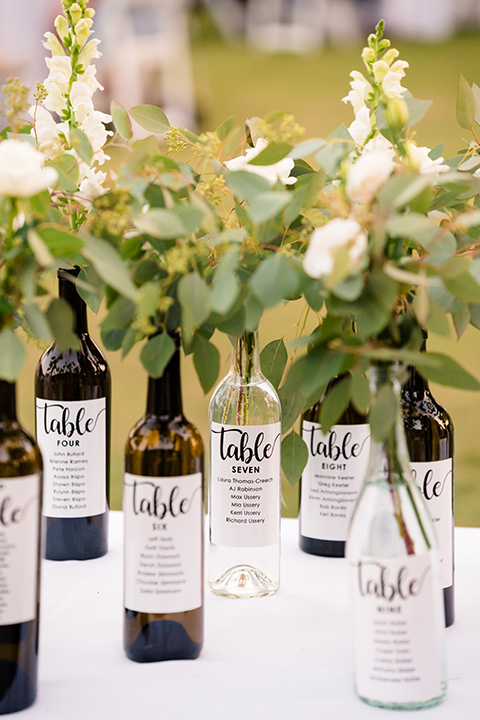 wine bottle table decor