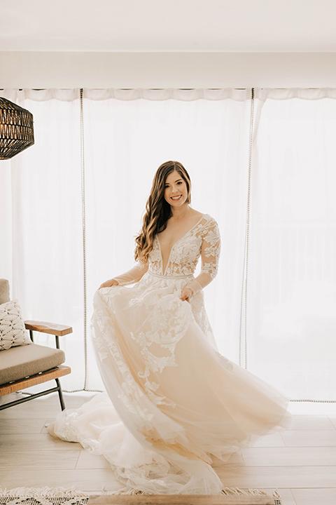 bride in a flowing ballgown