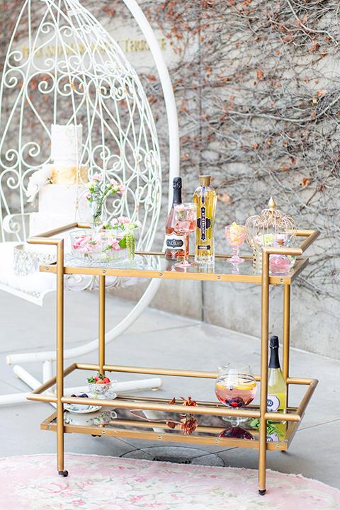 gold modern bar cart