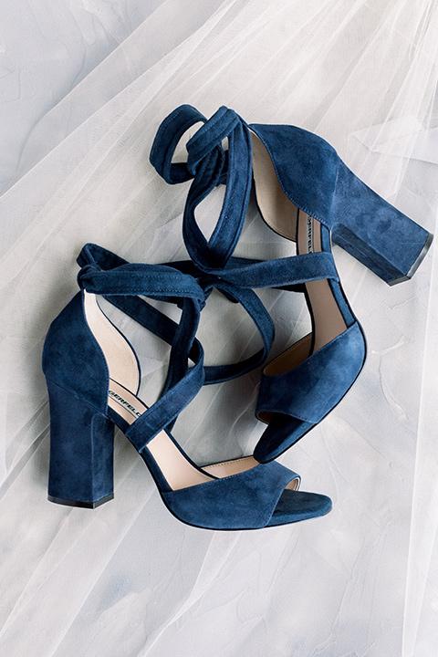 brides navy blue heels