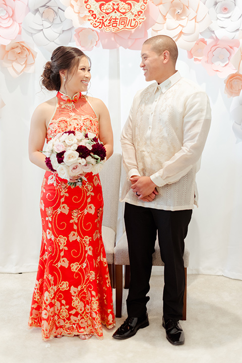 bride and groom in a traditional cultural clothing