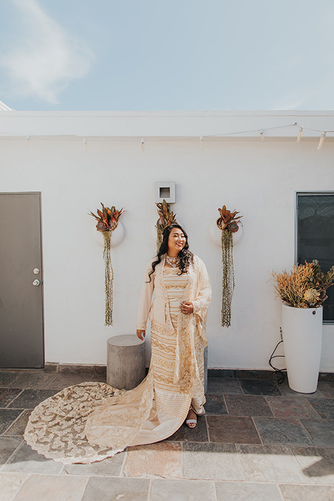 bride in a traditional Burmese gown