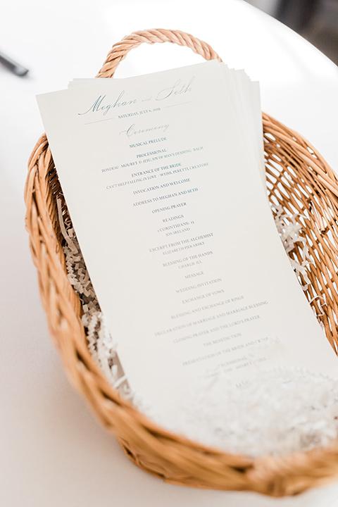 reception table menus