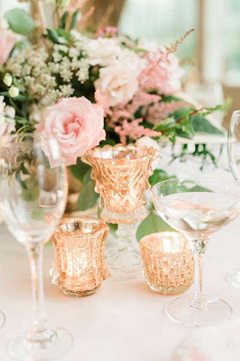 reception décor and table seating chart