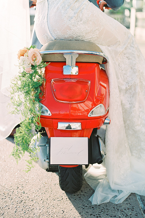 red vespa close up
