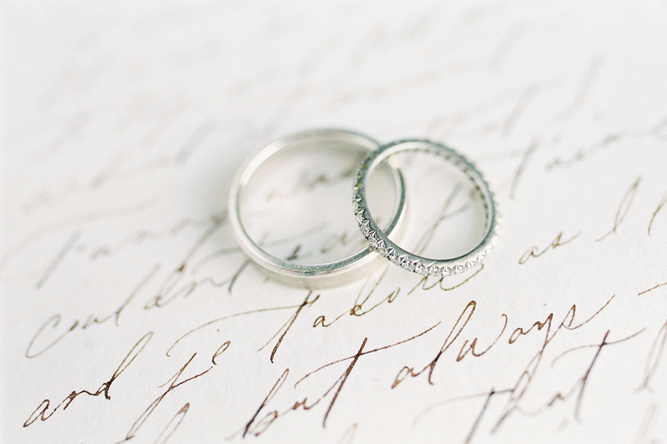 rings with calligraphy on it