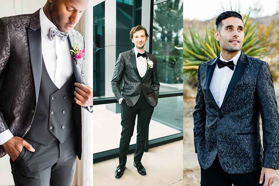 black paisley tuxedo