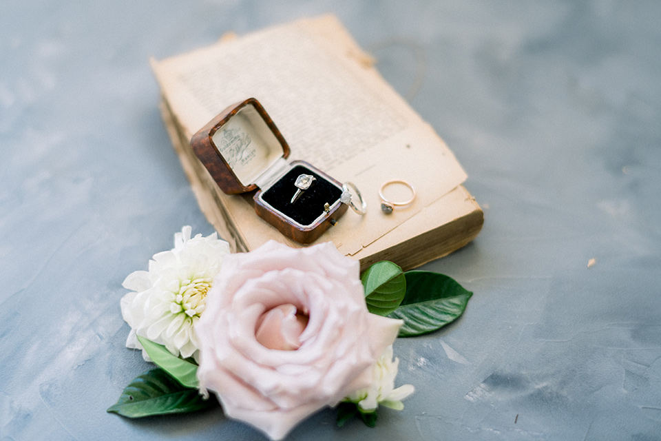 invitations with flowers and calligraphy
