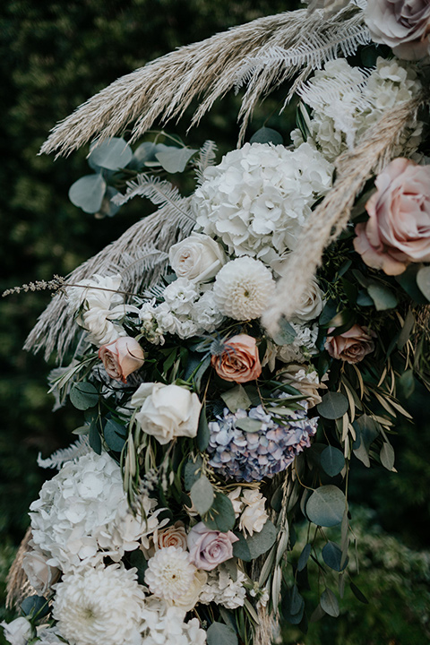 muted toned flowers and pink tones