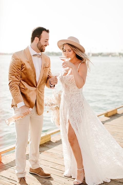 1970s golden hour boat elopement – cheersing