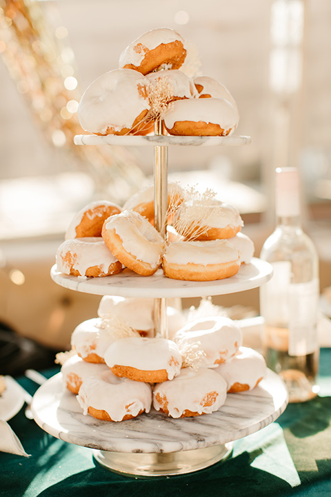 1970s golden hour boat elopement – donuts