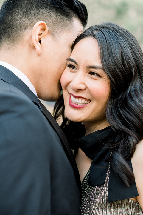 bride and groom eloping at balboa park – couple close