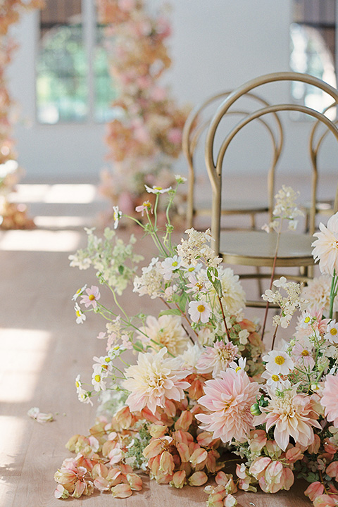 building 177 romantic coral wedding – ceremony chairs