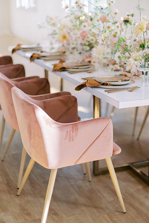 building 177 romantic coral wedding – reception space