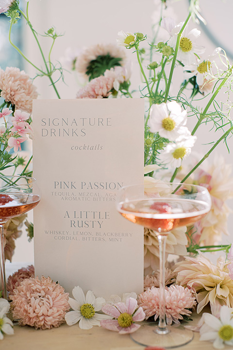 building 177 romantic coral wedding – bar menu