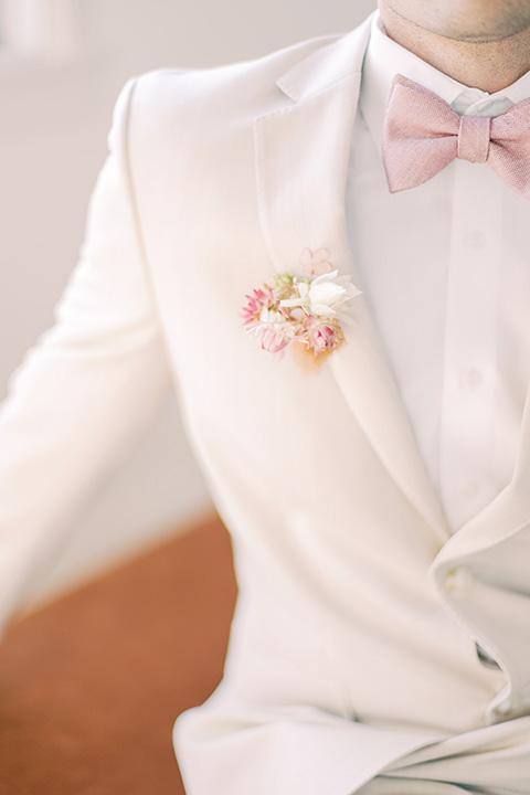 building 177 romantic coral wedding – groom close