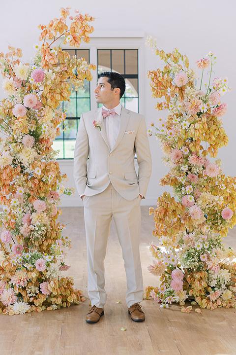 building 177 romantic coral wedding – groom