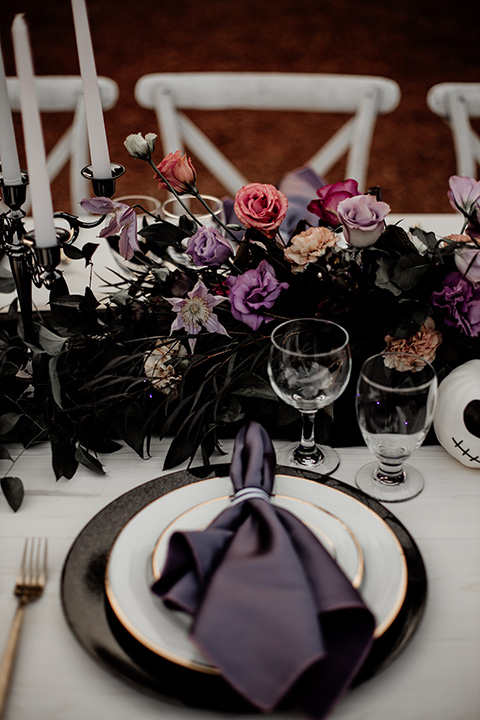 table décor and florals