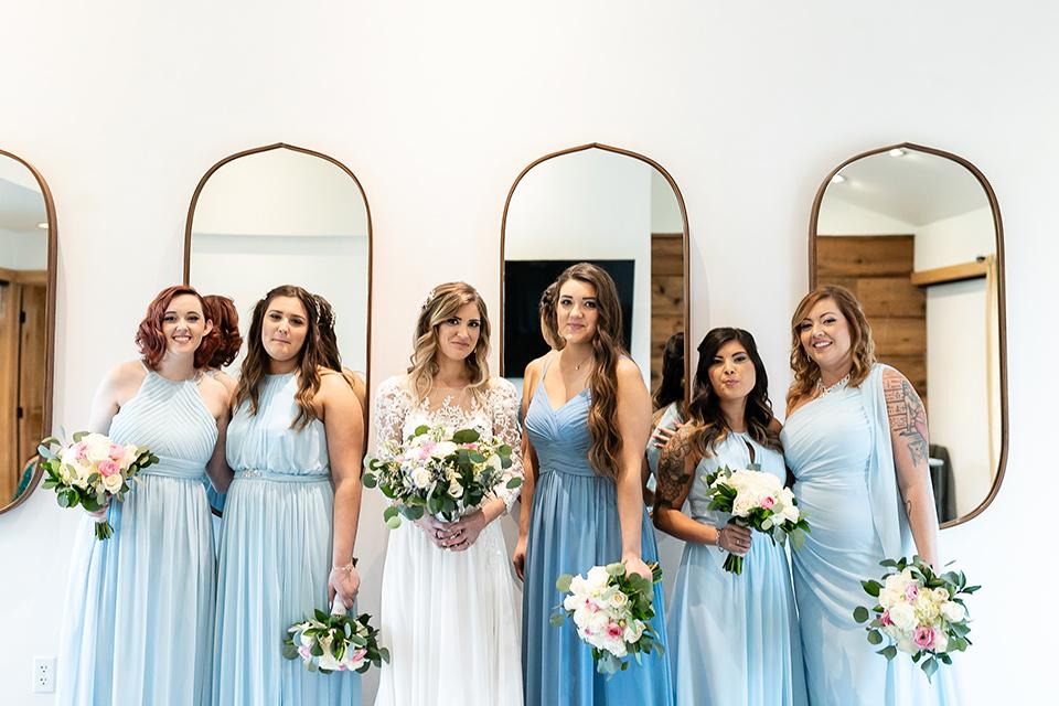 garden California floral wedding – bridesmaid