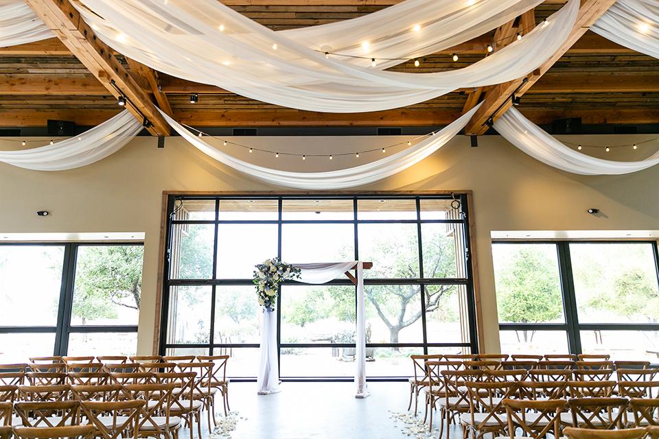 garden California floral wedding – ceremony space