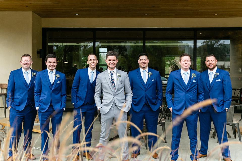 garden California floral wedding – groomsmen