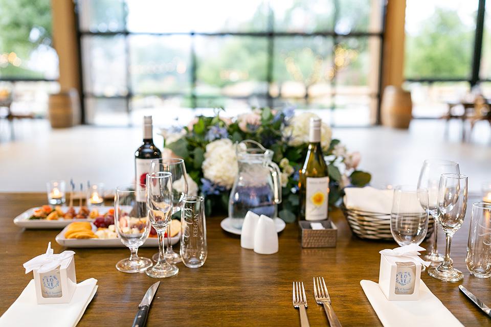 garden California floral wedding – table