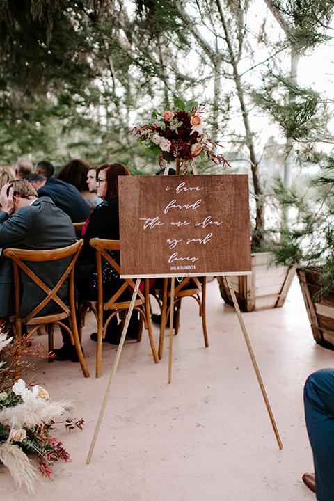 bohemian orange wedding – guests