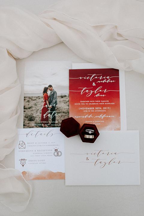 bohemian orange wedding – invitations