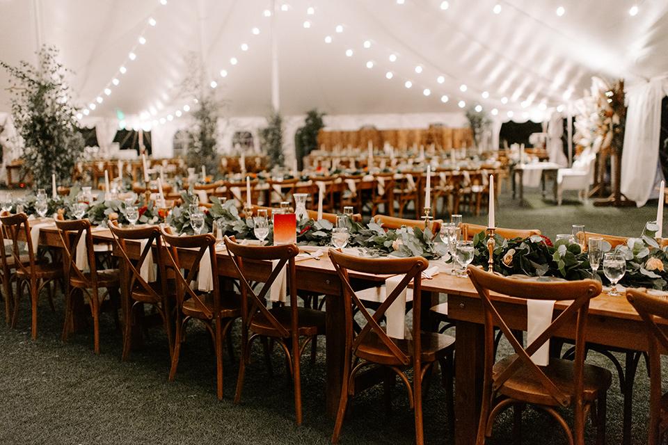 bohemian orange wedding – tables
