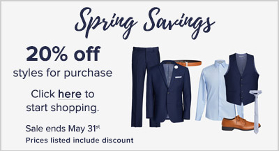 Spring sale: save 20% off items for purchase. Sale ends May 31st, 2020